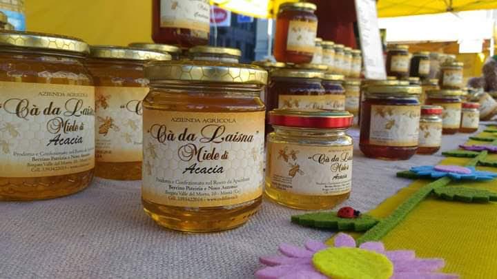 Miele di acacia Ca da Laisna esposizione