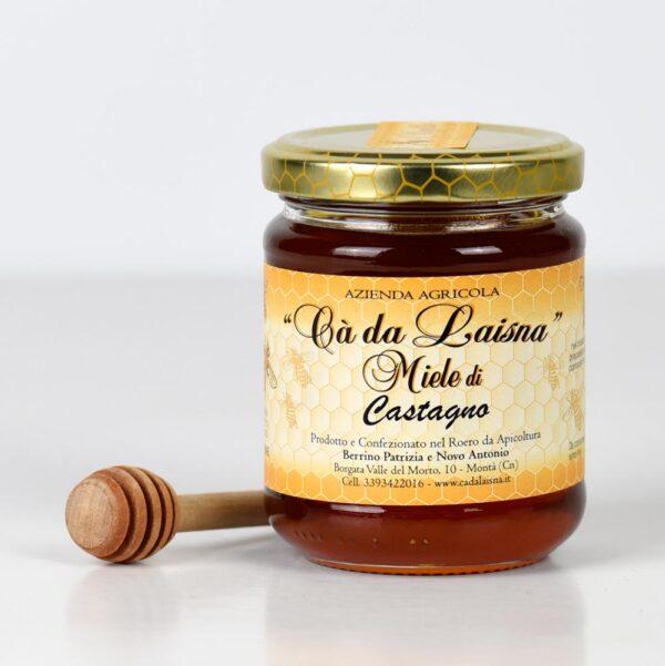 Miele di castagno del Piemonte - vaso da 250g