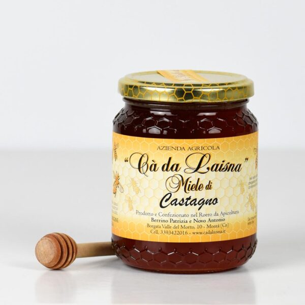 Miele di castagno del Piemonte - vaso da 500g